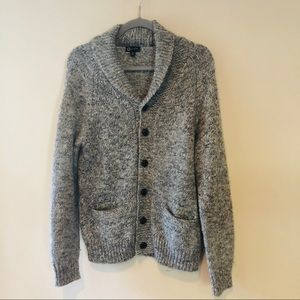 J. CREW ALPACA WOOL BUTTON DOWN CARDIGAN SWEATER